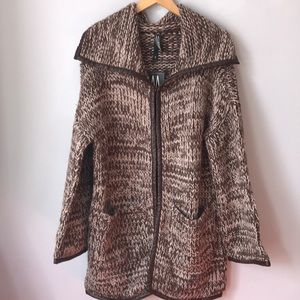 MarlaWynne Jackets & Coats - MarlaWynne Oversized Knit Sweater Coat